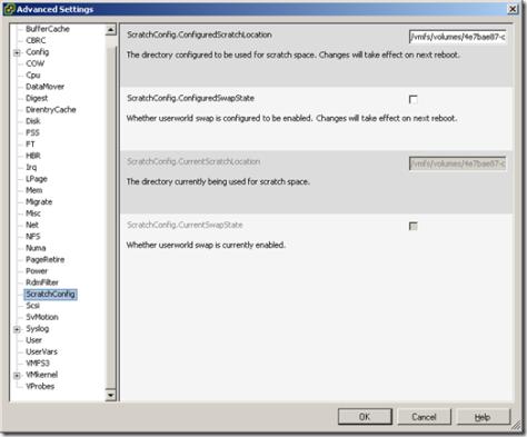 Scratch Partition on VMFS Volume