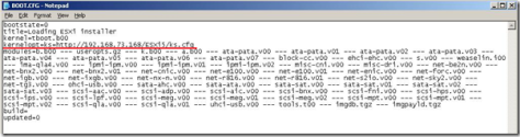boot.cfg to edit only for ESXi5.0