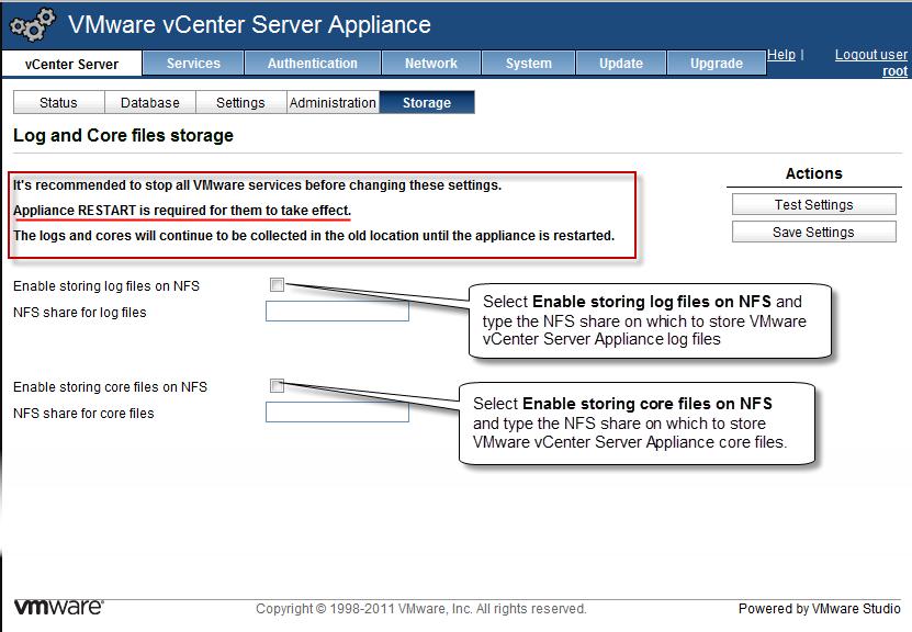 Configure NFS Storage on the VMware vCenter Server Appliance