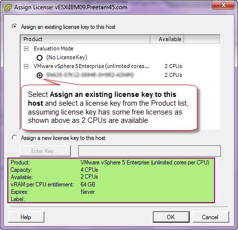esxi 6.5 enter license key
