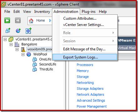 Collect vSphere Log Files – VMware, Windows, Virtualization (Servers