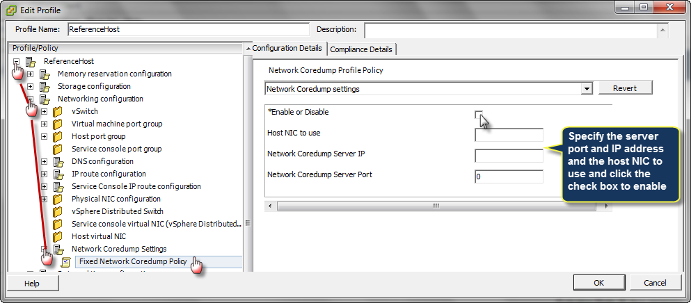 Set Up ESXi Dump Collector & Set Up Syslog from the Host Profiles